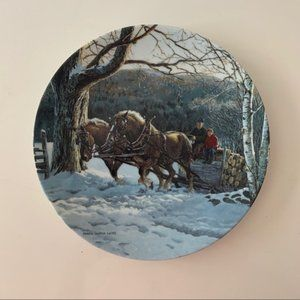 Winters work art collectors plate by Persis Weirs